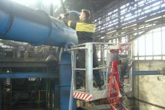 Nettoyage avec l'aspirateur industriel