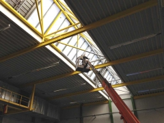 Cleaning of skylights