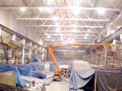 Cleaning of the production hall