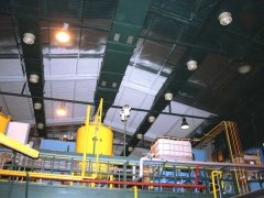 Coating of production hall