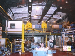 Coatings in production halls