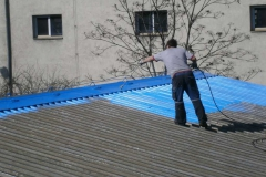 Coating of tin roof