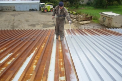 Coatings of tin roofs