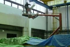 Malování z pracovních plošin