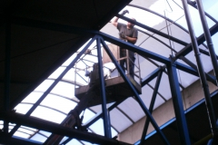 Washing the skylights