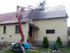 Údržba eternitové střechy ( Jihočeský kraj okres Tábor)