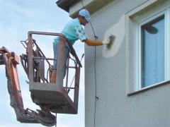 Drobné opravy fasády před nástřikem silikátových fasádních barev ( Jihočeský kraj okres Tábor)