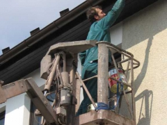 Nátěr dřevěných podhledů ( Jihočeský kraj okres Prachatice)