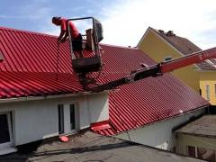 Nátěr plechové střechy proti korozi ( Jihočeský kraj okres České Budějovice)