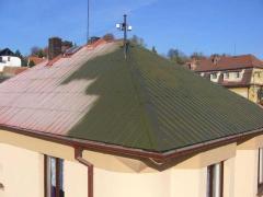 Renovace plechové ( hliníkové) střechy (Plzeňský kraj okres Rokycany)