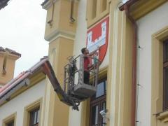 Nátěr fasády městského úřadu ( Plzeňský kraj okres Klatovy)