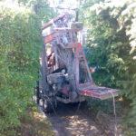 Průjezd pracovní plošiny ve stísněném prostoru ( kraj Vysočina okres Pelhřimov)