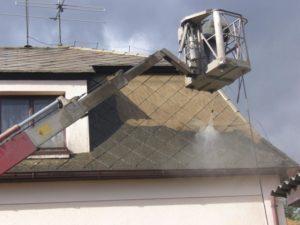 Vysokotlaké čištění eternitové střechy ( Jihočeský kraj okres Strakonice)