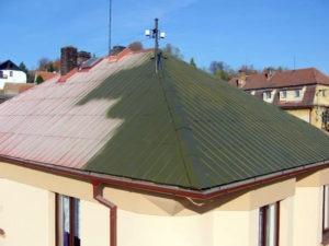 Údržba plechových střech ( Středočeský kraj okres Beroun)